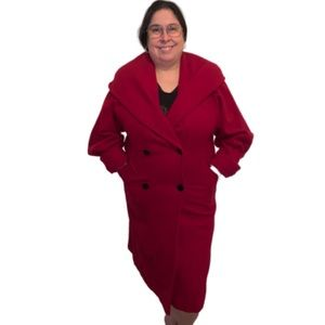 INTERNATIONAL SCENE Vintage Red Long Coat